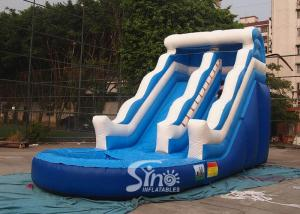 China 18' wave commercial kids inflatable water slide with EN14960 certified for summer parties on sale