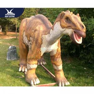 China Big Size Animatronic Dinosaur Statues For Garden Decoration Remote Control on sale