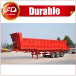 China cheap 3 axle tractor hydraulic dump trailer/Tipper Dumper Truck on sale