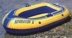 China Yellow printed Inflatable Fishing Boats for beach game , lake recreational on sale