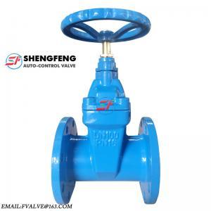 China ferro fundido do tamanho do tipo do shengfeng o ferro dútile do grande flangeou fábrica da válvula de porta on sale