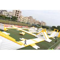 Big Floating 0.9mm PVC Outdoor Inflatable Water Park Equipment OEM / ODM
