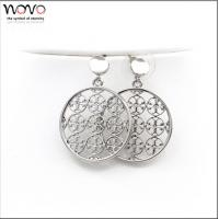 Fashion Hollow out earring flower, simple silver earring designs for women