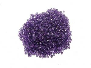 China 2mm 0.05 Carats Natural Amethyst Gemstones With Normal Faceted on sale