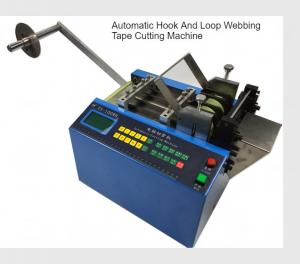 China Hook Loop Velcro Webbing Cutting Machine Cold Blade 0.1-9999MM Length Adjustable on sale