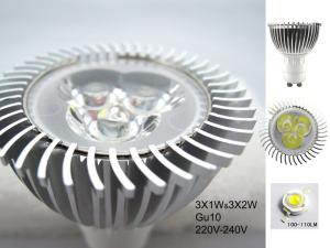 China Hight power LED Lamp GU10 Base 1*1W Bridgelux chip 45*45 100lm (MR16/E27/E26 also vilable) on sale