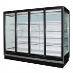 3.75M Vertical Remote Multideck Fridge , Commercial Glass Door Refrigerator