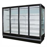 3.75M Vertical Remote Multideck Fridge , Commercial Glass Door Refrigerator