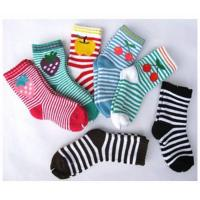 China Sweat-absorbent Cute Colorful 12 - 15 cm Pure Cotton Ankle Terry Loop Socks For Children 1- 4 Years on sale