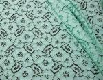 Mint Green Guipure Cotton Nylon Lace Fabric /  Upholstery Fabric SYD-0010