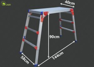 China Durable Aluminum Multi Purpose Ladder Stool Folding Sturdy Working Platforms on sale