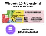 Original Windows 10 Pro Key Code Sticker With Scratch