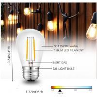 LED S14 Filament Bulbs 2W, 2700K (Warm), 200 lumens,Vintage Edison Great For String Lights, Wedding Lighting