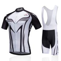 Short Sleeve Custom Cycling Jersey White Color Breathable Fabric Vivid Patterns