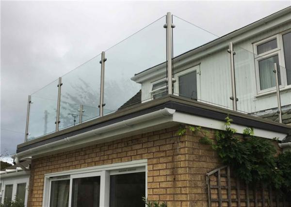 Round Post Stainless Steel Balcony Glass Railing Design With Reasonable Price For Sale Steel Post Glass Railing Manufacturer From China 108859658