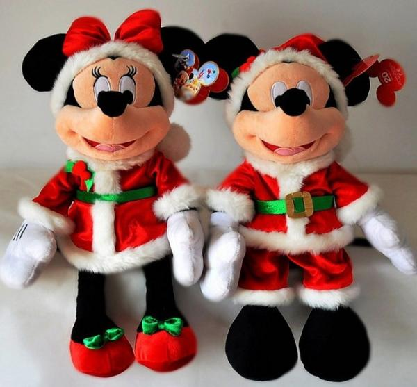 Christmas Minnie Mouse Plush.18inch Fashion Disney Christmas Mickey Mouse And Minnie