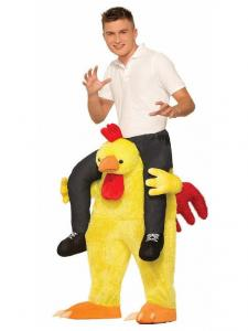China Ride a Chicken Adult Costume Carry Me Mascot Fancy Dress for Party on sale