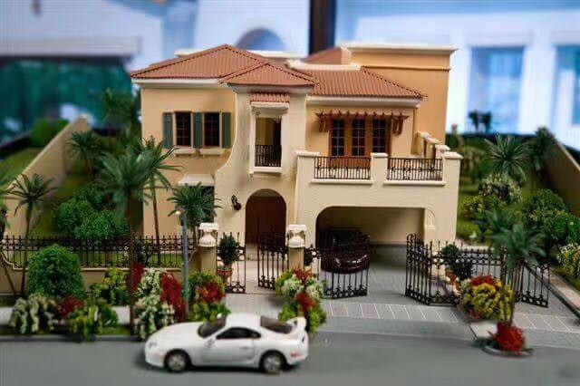 Architectural 3d Scale Maquette Model With Car, 3d house model maker