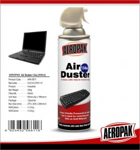 China Non Toxic Industrial Cleaning Products, Computer / Keyboard Air Duster Can on sale