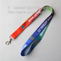 China Simple cheap sublimation id badge lanyards, sublimation full color lanyards, on sale