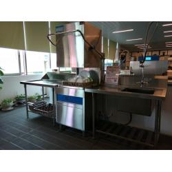 China Restaurants Hood type dishwasher 6.5KW / 11KW 1400H 650W 800D ECO-F1 for sale