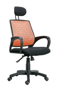 China Office high-back mesh chair swivelling chair with headrest & plastic HJ056S-1 on sale