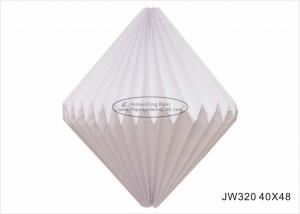 China Foldable Lampion Origami Paper Lampshade White 40cm For Christmas Tree Ornaments on sale