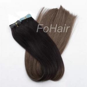 China FoHair tape in  hair extensions,double drawn quality,remy human hair,Ombre on sale
