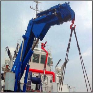 China Hydraulic Knuckle Boom Crane Repair Operator  Marine Ship Crane on sale