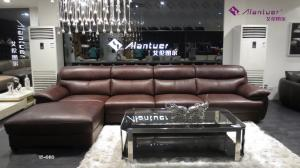 China living room sectional sofa genuine leather sofa brown sofa modern interior sofa set on sale