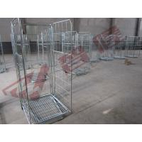 metal type ROLL cage containers & four wheel wheel trolly