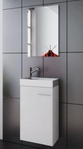 China Simple White Waterproof Design Free Standing Vanity Units For Bathroom on sale