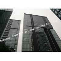 Hidden Framed Aluminum Glass Curtain Wall Heat Insulation For Commercial Office Mall