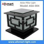 El pilar solar de aluminio enciende la lámpara solar de la puerta del poste ASA-004 de poste de las luces solares de la columna
