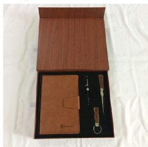 China Notebook with Pen and letter opener,keychain in wood grain Gift box for VIP on sale