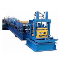China Galvanized Steel CZ Purlin Roll Forming Machine 400H Beam Frame With Post Cutting on sale