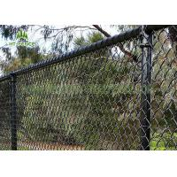 3.6mm Wire Steel Chain Link Fence / Chain Link Security Fence For Home Garden