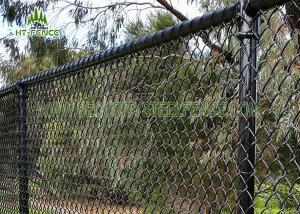 China 3.6mm Wire Steel Chain Link Fence / Chain Link Security Fence For Home Garden on sale