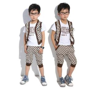 China 2014 new style  boy clothing set  designer clothing made in china mix ordr wholesale kids wear on sale