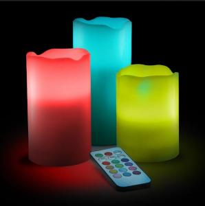 China Remote Control Color Changing LED Candle on sale