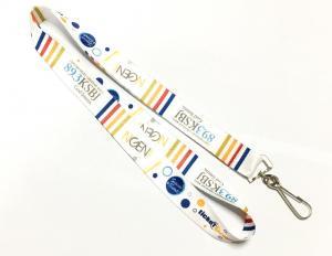 China Custom Printed Lanyards Colorful Shiny Fashionable Cute Printing Swivel J Hook on sale