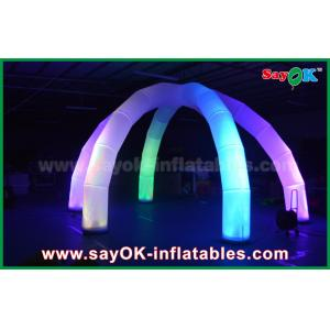 China DIA 5m LED Light Archway Inflatable Arch With 6 Legs Multicolor Nylon Cloth on sale