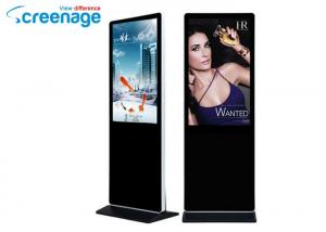 China Floor Standing Kiosk 1920 x 1080 , Infrared Touch screen Advertising Player on sale