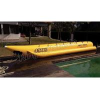 China Giant Complete Yellow Inflatable Banana Boats Fly Fishing Boats With CE on sale