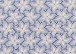Голубая/белая флористическая французская ткань шнурка ярдом для Swimwear/игрушки