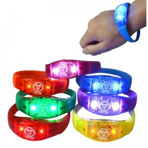 China Colorful Environmental Concert Lighting Bracelet Logo Customized on sale