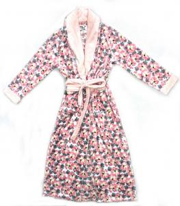 China 260G Soft Fleece 100% Polyester Ladies Pyjama Sets Night Robe All Over Print on sale