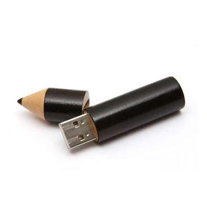 China pencil shaped wooden usb flash drive on sale