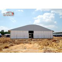 Tear Resistant 20 x 50m Outdoor Party Tents Arcum Shape With Glass Walls