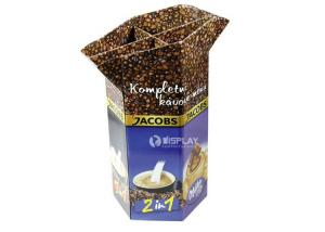 China Coffee Beans Hexagonal Cardboard Dump Bins Point Of Sale Display Stands on sale